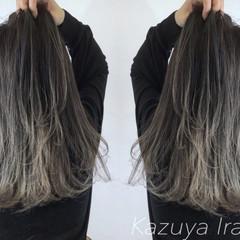 外国人風カラー ロブ グレージュ グラデーションカラー ヘアスタイルや髪型の写真・画像