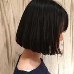 オルチャン ワンカール ボブ デジタルパーマ ヘアスタイルや髪型の写真・画像