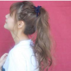 前髪あり くせ毛風 ピュア ロング ヘアスタイルや髪型の写真・画像