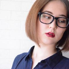 オフィス ボブ 髪質改善 ナチュラル ヘアスタイルや髪型の写真・画像