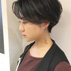 アウトドア ショート 簡単ヘアアレンジ オフィス ヘアスタイルや髪型の写真・画像
