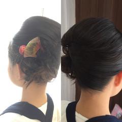 ヘアアレンジ セミロング お祭り ヘアスタイルや髪型の写真・画像