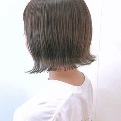 切りっぱなしボブ ナチュラル モテボブ ボブ ヘアスタイルや髪型の写真・画像