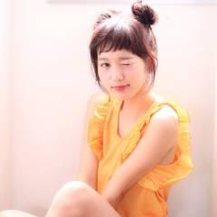 黒髪 ヘアアレンジ 大人かわいい グラデーションカラー ヘアスタイルや髪型の写真・画像