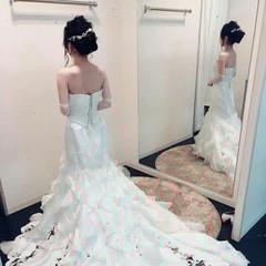 ヘアアレンジ 上品 結婚式 エレガント ヘアスタイルや髪型の写真・画像