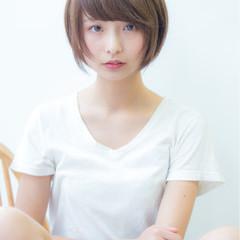 大人女子 ニュアンス ナチュラル ショート ヘアスタイルや髪型の写真・画像
