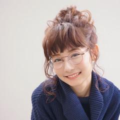 ゆるふわ ヘアアレンジ 前髪あり 大人女子 ヘアスタイルや髪型の写真・画像