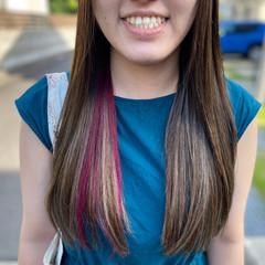 コントラストハイライト インナーカラー フェミニン ロング ヘアスタイルや髪型の写真・画像