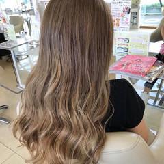 透明感カラー ストリート バレイヤージュ セミロング ヘアスタイルや髪型の写真・画像