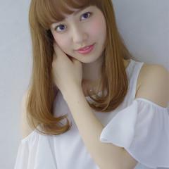 ピュア 前髪あり 大人かわいい フェミニン ヘアスタイルや髪型の写真・画像