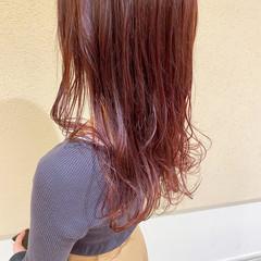 ピンクパープル ゆるふわ ピンクラベンダー 大人かわいい ヘアスタイルや髪型の写真・画像