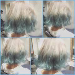 大人かわいい グラデーションカラー ボブ 外国人風 ヘアスタイルや髪型の写真・画像
