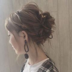 女子会 大人女子 セルフヘアアレンジ リラックス ヘアスタイルや髪型の写真・画像