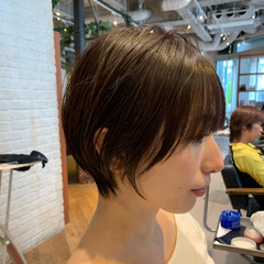 大人かわいい オフィス ショートボブ ショート ヘアスタイルや髪型の写真・画像