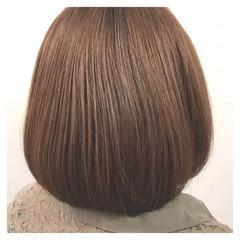 オフィス アッシュ ボブ ナチュラル ヘアスタイルや髪型の写真・画像