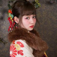 ミディアム 成人式 デート 結婚式 ヘアスタイルや髪型の写真・画像