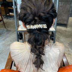 二次会ヘア ヘアセット ヘアアレンジ セミロング ヘアスタイルや髪型の写真・画像