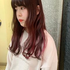 ロング ガーリー ハイライト 質感カラー ヘアスタイルや髪型の写真・画像