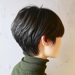 黒髪 ナチュラル オフィス ジェンダーレス ヘアスタイルや髪型の写真・画像