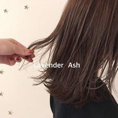 ラベンダーアッシュ ナチュラル 大人可愛い 大人かわいい ヘアスタイルや髪型の写真・画像