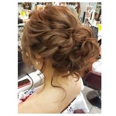 エレガント ヘアアレンジ 上品 結婚式 ヘアスタイルや髪型の写真・画像