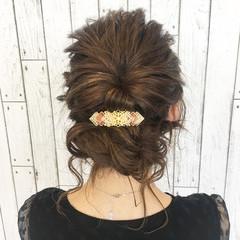 ボブ 切りっぱなし 編み込み ヘアアレンジ ヘアスタイルや髪型の写真・画像
