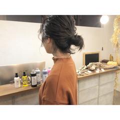 ボブ アンニュイほつれヘア ナチュラル 簡単ヘアアレンジ ヘアスタイルや髪型の写真・画像
