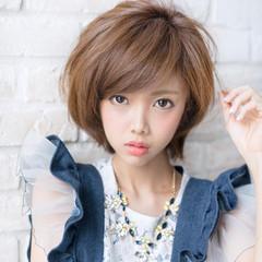 大人女子 フェミニン 大人かわいい ショート ヘアスタイルや髪型の写真・画像