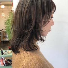 ミディアムレイヤー ウルフレイヤー ミディアム 透明感カラー ヘアスタイルや髪型の写真・画像