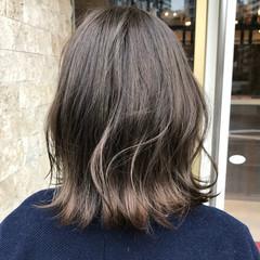 夏 ボブ 切りっぱなし 春 ヘアスタイルや髪型の写真・画像
