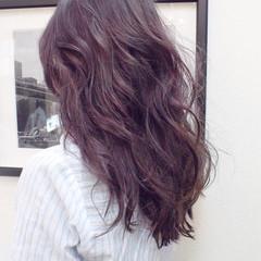 デート ハイライト 外国人風 モーブ ヘアスタイルや髪型の写真・画像