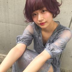 ラベンダーピンク フェミニン 外国人風カラー おフェロ ヘアスタイルや髪型の写真・画像
