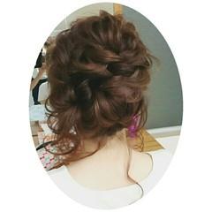 ヘアアレンジ 春 ロング アップスタイル ヘアスタイルや髪型の写真・画像