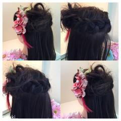 ハーフアップ 子供 ヘアアレンジ 謝恩会 ヘアスタイルや髪型の写真・画像