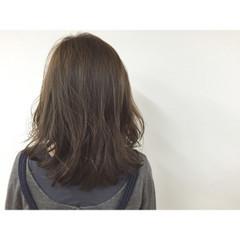 セミロング 暗髪 外国人風 ヘアアレンジ ヘアスタイルや髪型の写真・画像