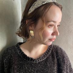 ショートボブ ナチュラル ヘアアレンジ ボブ ヘアスタイルや髪型の写真・画像