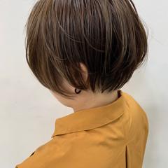 ナチュラル アディクシーカラー ミニボブ ショートボブ ヘアスタイルや髪型の写真・画像