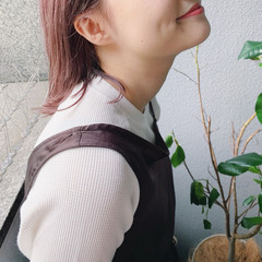 ピンクベージュ ミルクティーベージュ ヘアアレンジ ミディアム ヘアスタイルや髪型の写真・画像