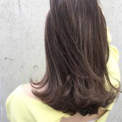 ニュアンス セミロング デート 色気 ヘアスタイルや髪型の写真・画像