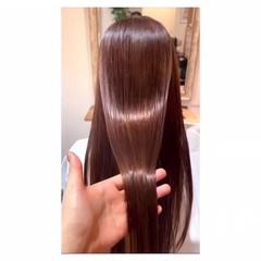 ラベージュ ピンクベージュ 髪質改善トリートメント ラベンダーピンク ヘアスタイルや髪型の写真・画像