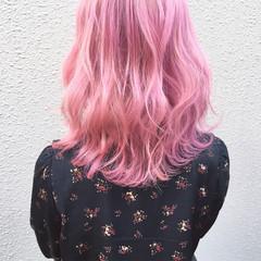 ストリート ダブルカラー ハイトーン ミディアム ヘアスタイルや髪型の写真・画像