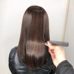 髪質改善カラー バレイヤージュ ガーリー セミロング ヘアスタイルや髪型の写真・画像