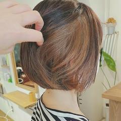 ゆるふわ ナチュラル インナーカラー 白髪染め ヘアスタイルや髪型の写真・画像