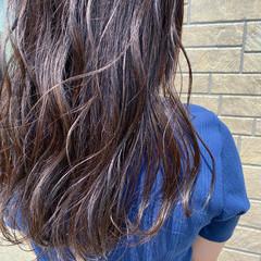 バイオレットアッシュ ブルーバイオレット ロング アッシュバイオレット ヘアスタイルや髪型の写真・画像