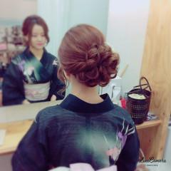 お祭り セミロング 花火大会 和装 ヘアスタイルや髪型の写真・画像