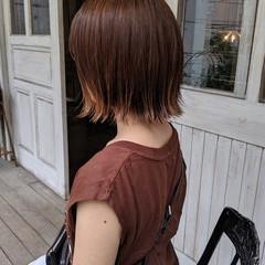 外ハネボブ アウトドア ボブ デート ヘアスタイルや髪型の写真・画像