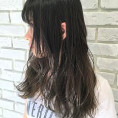 ストリート グラデーションカラー セミロング 外国人風 ヘアスタイルや髪型の写真・画像