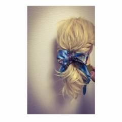 ヘアアレンジ ポニーテール ロング ローポニーテール ヘアスタイルや髪型の写真・画像