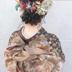 成人式 成人式ヘア ガーリー ミディアム ヘアスタイルや髪型の写真・画像
