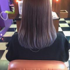 ブラウン グレージュ グラデーションカラー ガーリー ヘアスタイルや髪型の写真・画像